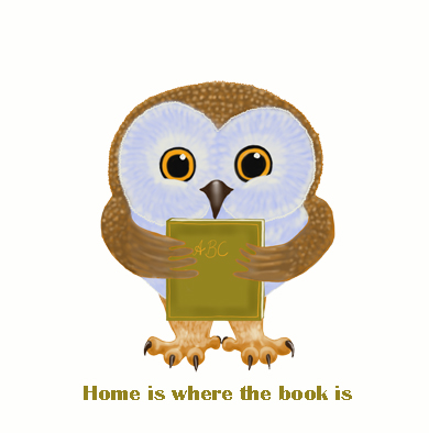 Book Owlie / Home is where the book is