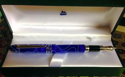 The most beautiful blue fountain pen...
