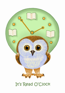 Book Owlie / It's read o'clock